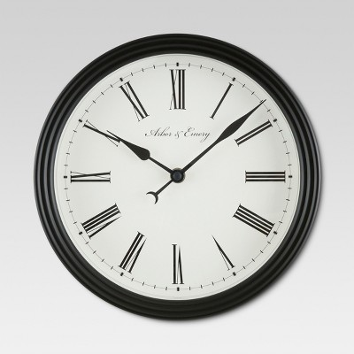 Roman 10   Wall Clock Black - Threshold™