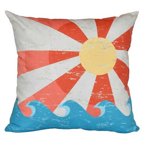 Sunbeams Geometric Print Throw Pillow - E by Design - image 1 of 1