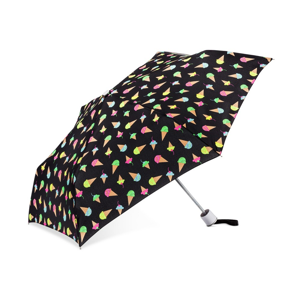 Image of Cirra by ShedRain Ice Cream Cone Compact Umbrella - Black