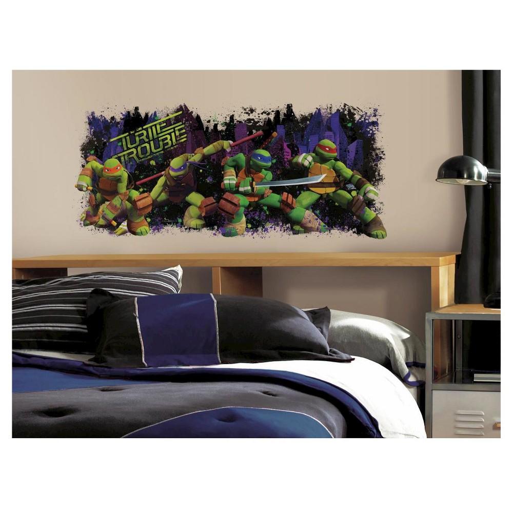 RoomMates Teenage Mutant Ninja Turtle Trouble Graphic Peel & Stick Wall Decals, Multi-Colored