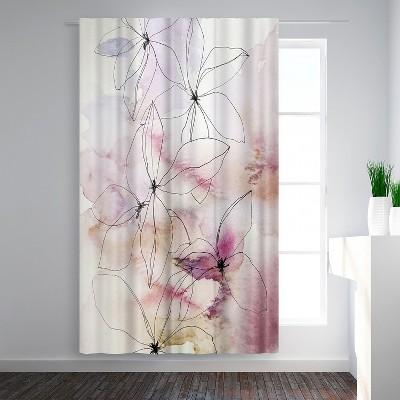 Americanflat Whisper Petals II by Hope Bainbridge Blackout Rod Pocket Single Curtain Panel 50x84