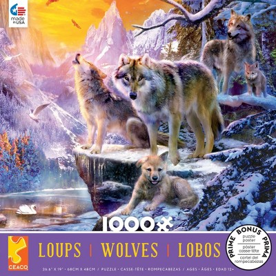 Ceaco Winter Wolf Family Jigsaw Puzzle - 1000pc