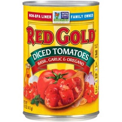 Red Gold® Diced Tomatoes with Basil, Garlic & Oregano 14.5 oz