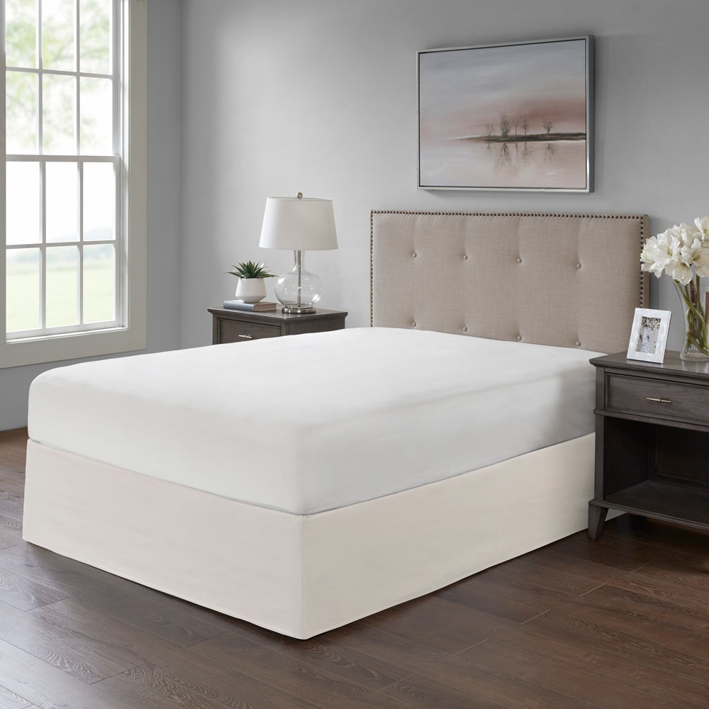 Ivory Simple Fit Wrap Around Adjustable Bed Skirt