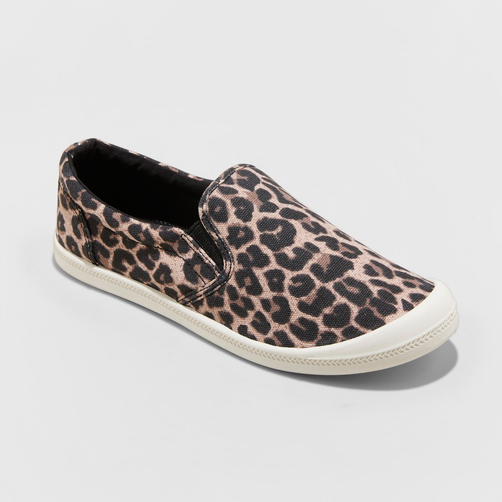 Women's Mad Love Kasandra Leopard Twin Gore Canvas Sneakers - Brown 12