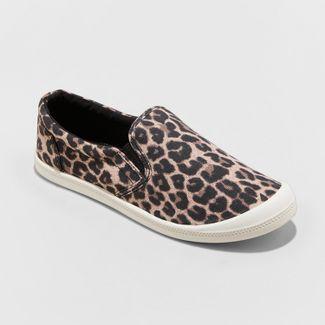 Women's Mad Love Kasandra Leopard Twin Gore Canvas Sneakers - Brown 10