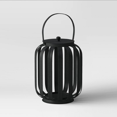 "12"" Small Metal Strip Outdoor Lantern Black - Project 62™"