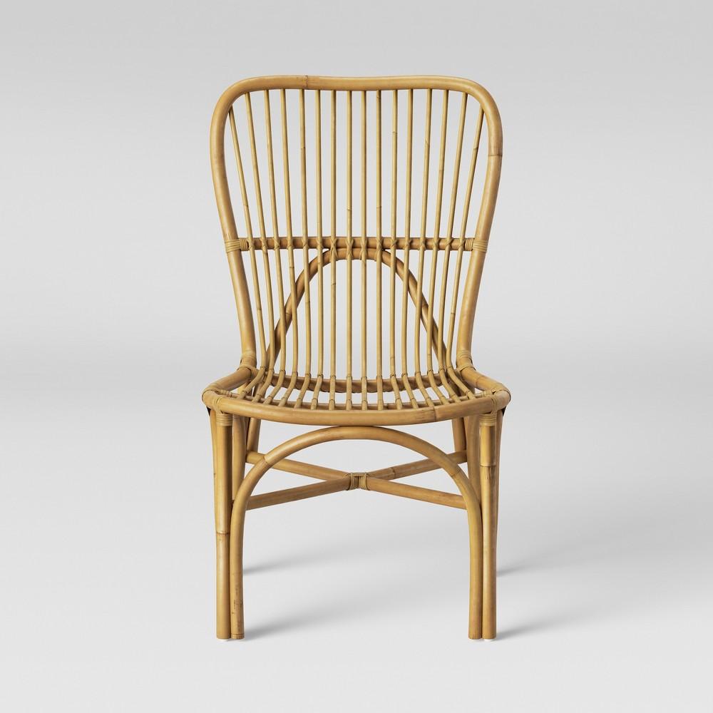 Hazel Rattan Armless Chair Light Brown - Opalhouse