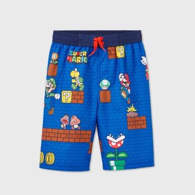 Boys' Super Mario Swim Trunks -  Blue