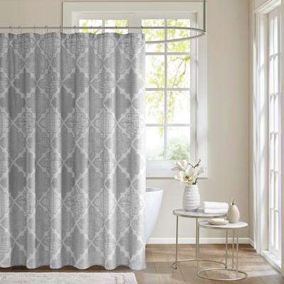 Sidnee Cotton Sateen Shower Curtain Grey