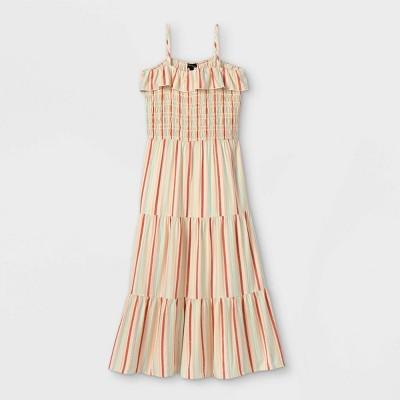 Girls' Ruffle Smocked Maxi Sleeveless Dress - art class™