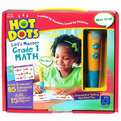 Educational Insights Hot Dots Let's Master Grade 1 Math Set with Talking Pen - image 1 of 4