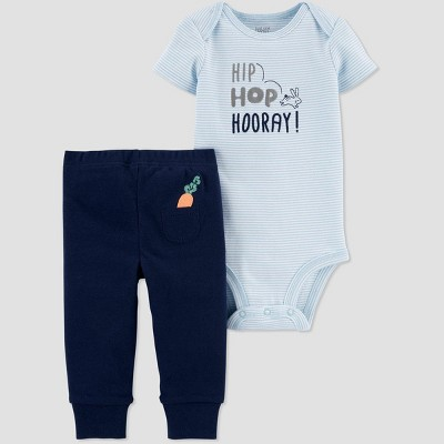 Baby Boys' 2pc 'Hooray' Bodysuit Set - Just One You® made by carter's Blue 9M
