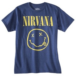 Men's Nirvana Short Sleeve Graphic T-Shirt - Denim Heather