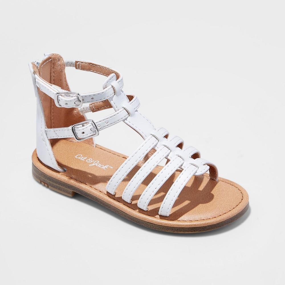 Best Online Toddler Girls Taylor Gladiator Sandals Cat Jack White 7