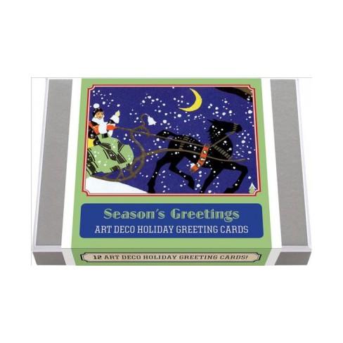 Season S Greetings Art Deco Christmas Greeting Cards Stationery