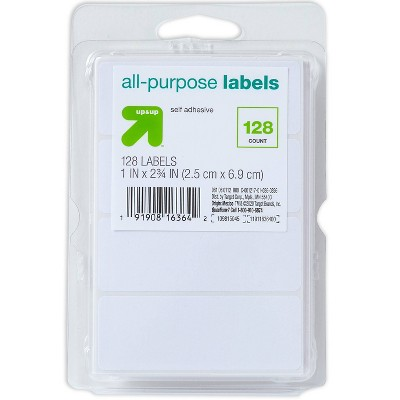 """128ct 1""""x2.75"""" Rectangular Labels White - up & up™"""