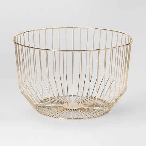 Round Wire Basket Large Gold Project 62