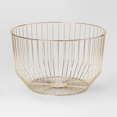 Round Wire Basket Large   Gold   Project 62™