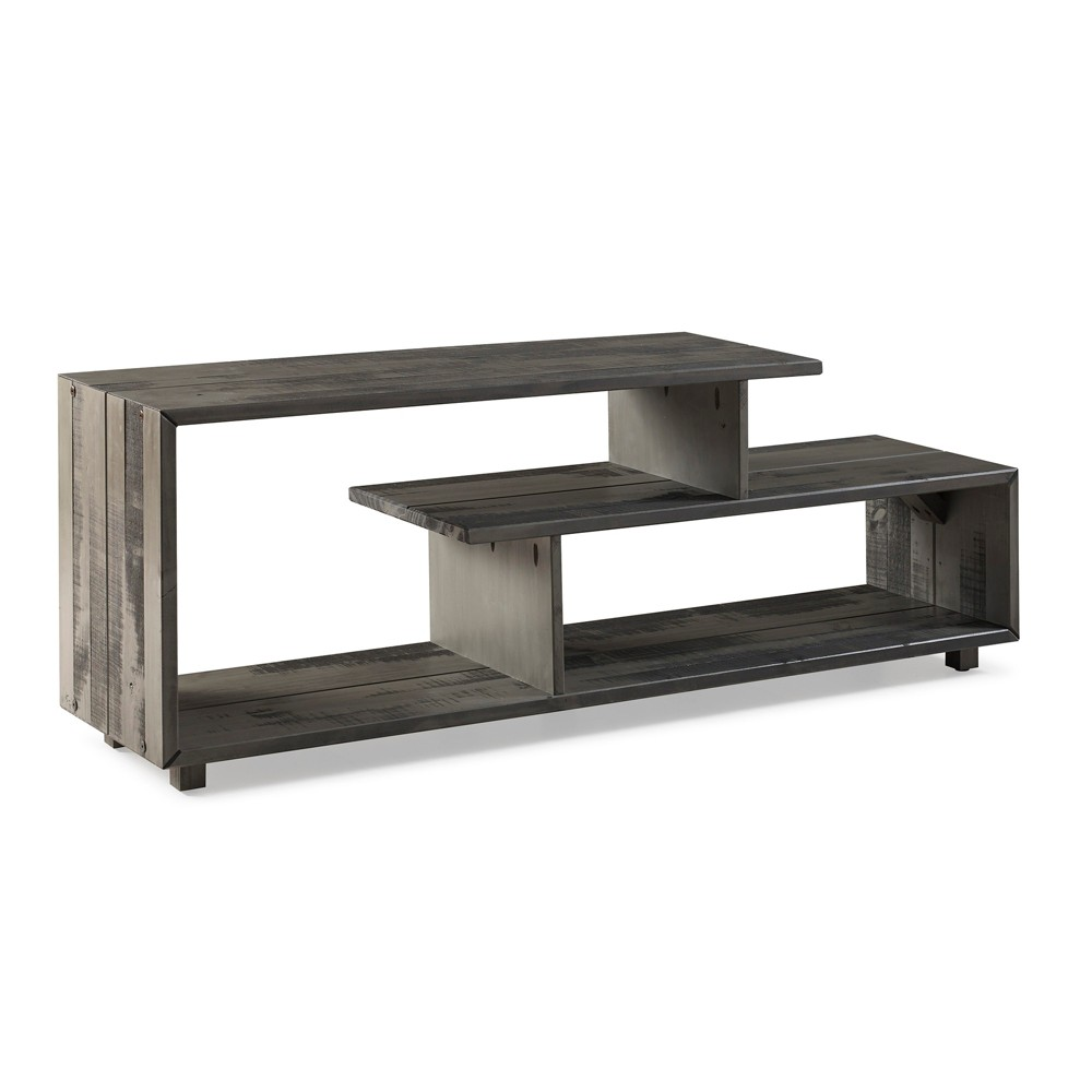 60 Rustic Modern Solid Wood TV Stand Console Entertainment Center Gray Wash - Saracina Home