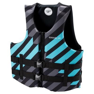Speedo Adult Neoprene Lifejacket - Black/Blue (Extra Large/Double XL)