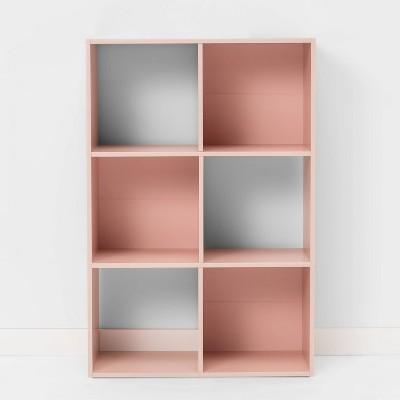 6 Cube Bookshelf Feather Peach - Room Essentials™