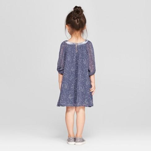 Toddler Girls Constellation Dress Genuine Kids From Oshkosh Blue