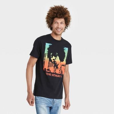 Men's Jimi Hendrix Ombre Short Sleeve Graphic T-Shirt - Black