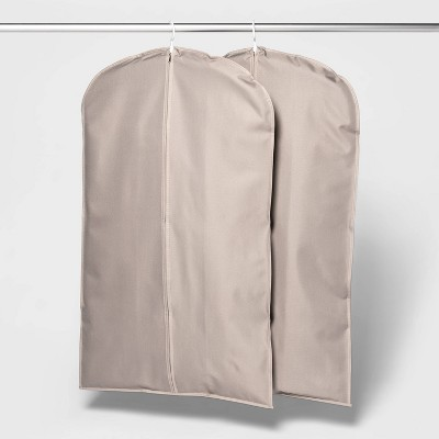 2pk Suit Protector Garment Bag Gray - Room Essentials™