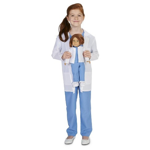 "Kids' Doctor Costume with Matching 18"" Doll Costume - Medium - image 1 of 1"