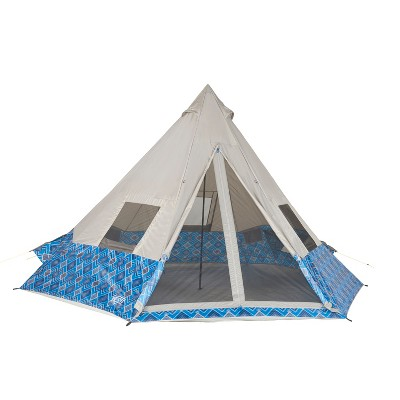 Wenzel Tribute Shenanigan 8 Person Tent - Blue Geo Print