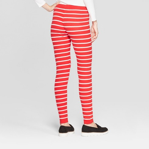 womens christmas candy cane striped sweater leggings 33 degrees red target