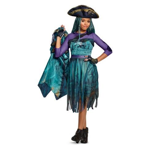 Girls Disney Descendants Uma Deluxe Halloween Costume Target
