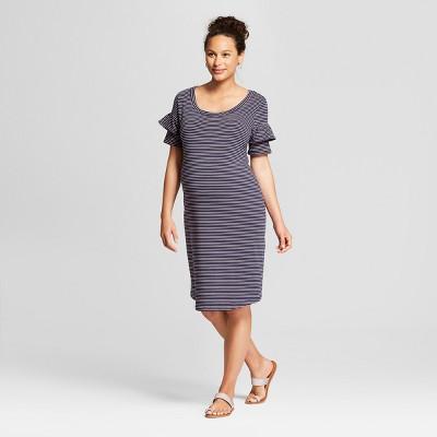 359ba930553ac Maternity Knit Ruffle Sleeve T-shirt Dress - Isabel Maternity by Ingrid &  Isabel™