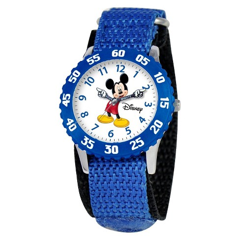 Disney® Kids Mickey Mouse Watch - Blue - image 1 of 1