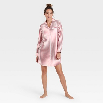Women's Perfectly Cozy Striped Flannel Nightgown - Stars Above™ White