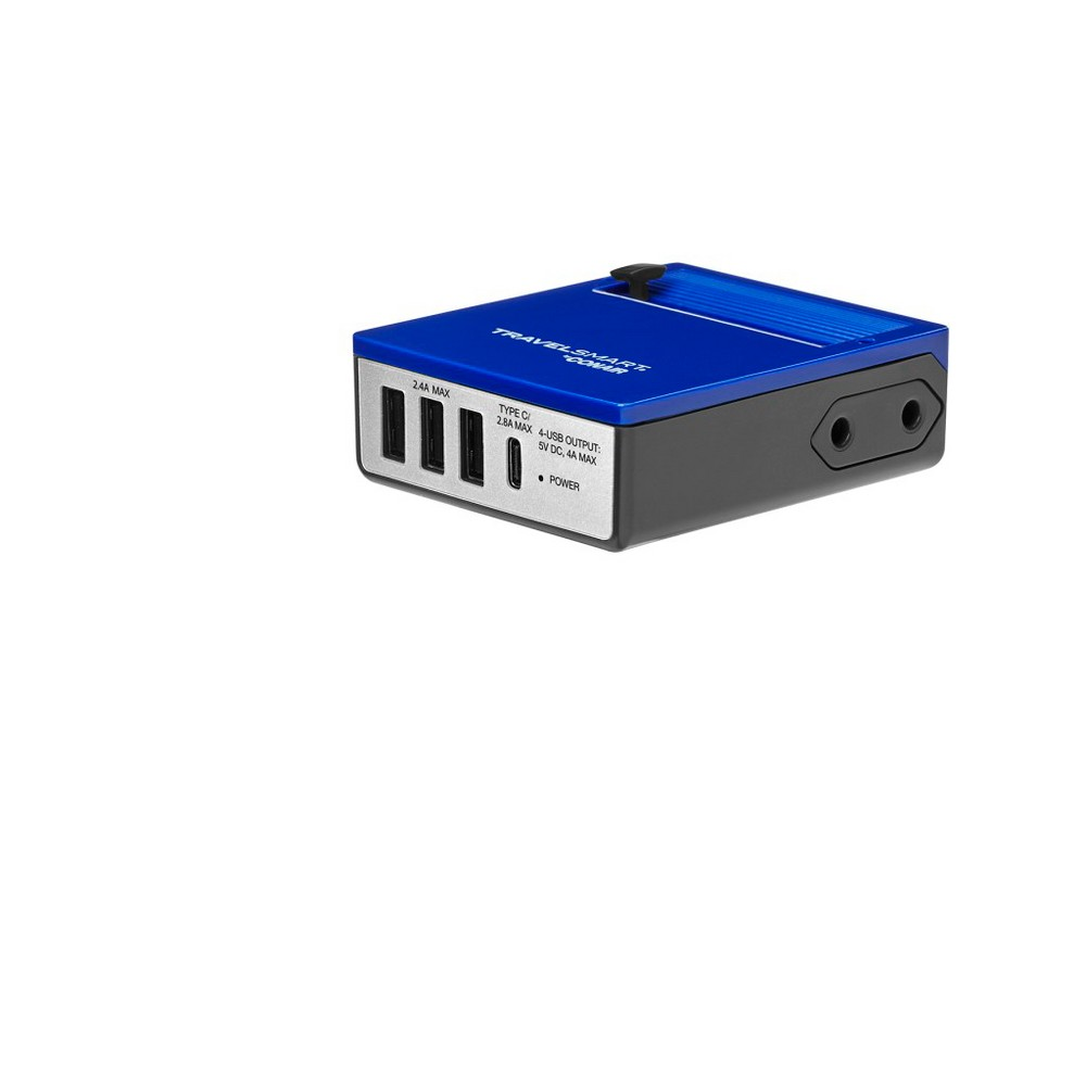 Image of Travel Smart All-In-One Adapter USB Hub, Blue