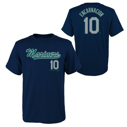 new arrivals 20eaf 704c8 Seattle Mariners Youth Name & Number T-Shirt - L
