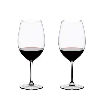 Riedel Vinum Bordeaux Grand Cru Crystal Dishwasher Safe Stemmed Red Wine Glass, 33.86 Ounce (2 pack)