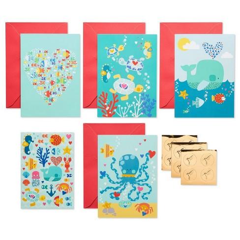 4ct Sea Life Greeting Card Papyrus Target