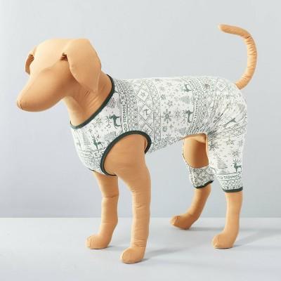 Reindeer Good Tidings Pet PJ Green/Cream - Hearth & Hand™ with Magnolia