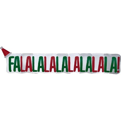 Gemmy Christmas Airblown Inflatable FaLaLa Sign, 2.5 ft Tall, Multicolored