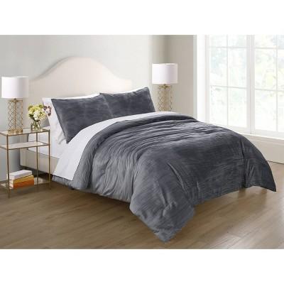 Sadie Crinkle Velvet Comforter Set - Elegant Estates