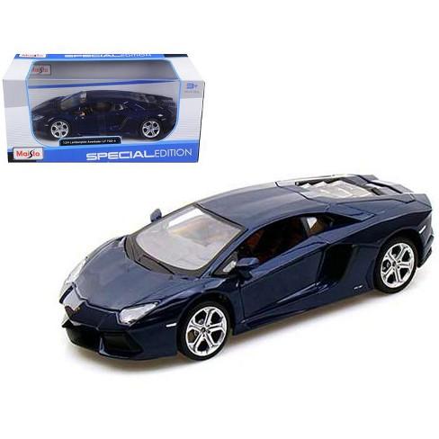 2011 2012 Lamborghini Aventador Lp700 4 Blue 1 24 Diecast Model Car