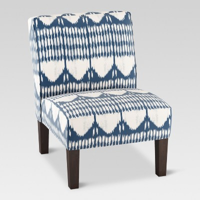 Burke Slipper Chair - Ikat Blue Tones - Threshold™