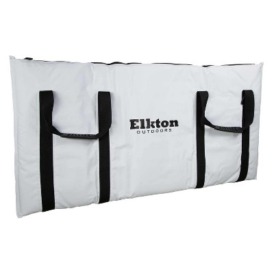 Elkton Outdoors ELK-FCB-40 40-Inch Insulated Large Portable Fish Cooler Kill Bag with 4 Handles, Removable Shoulder Strap, White