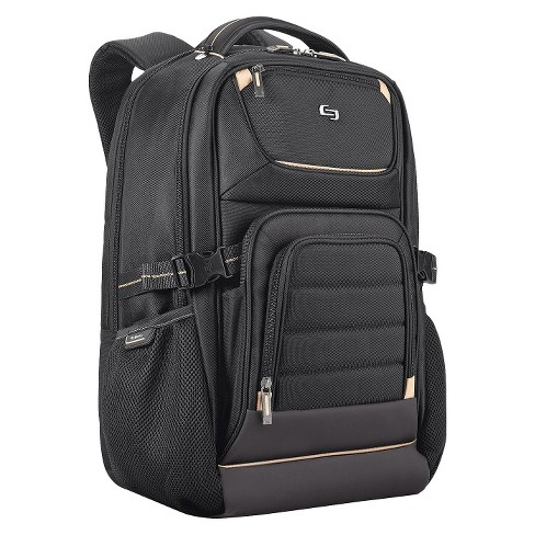 "Solo 18"" Pro Laptop Backpack - Black/Gold - image 1 of 7"