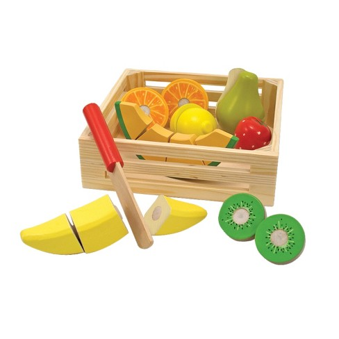 Melissa Doug Cutting Fruit Set Wooden Play Food Kitchen Accessory Target