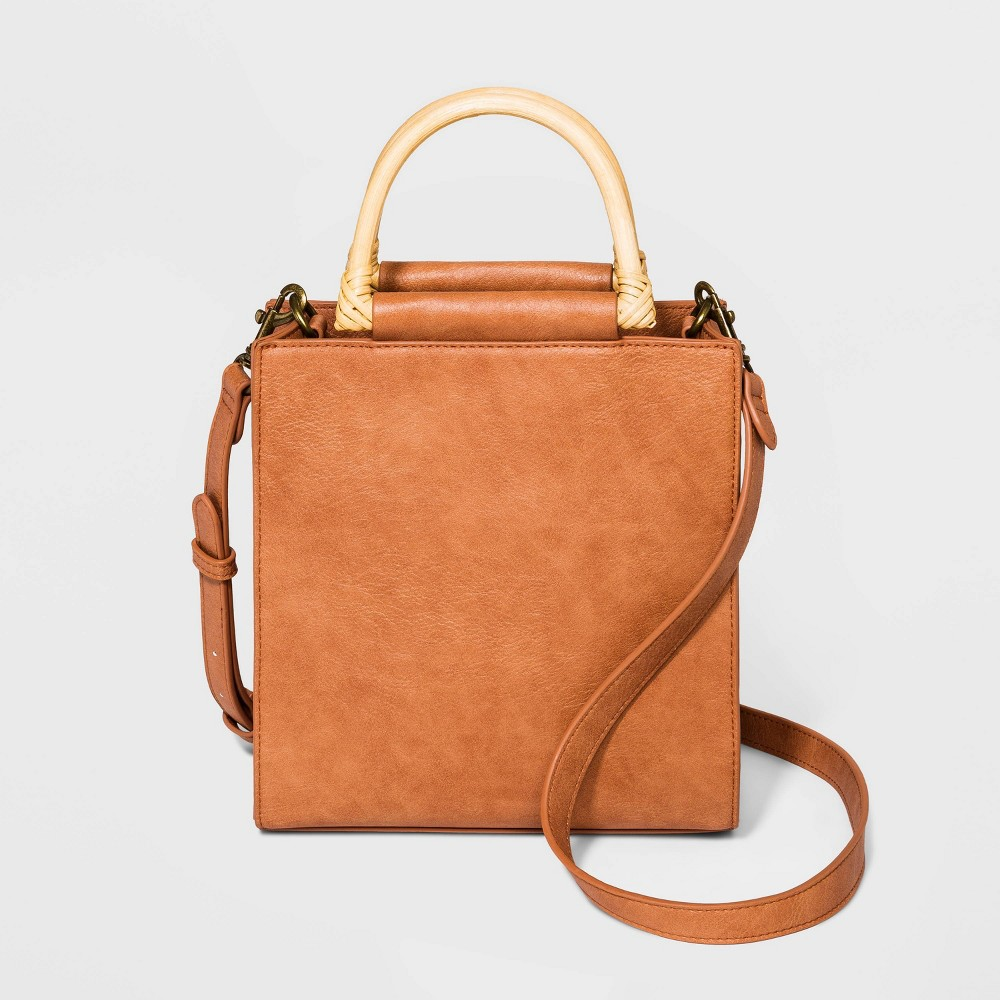 Image of Boxy Tote Crossbody Bag - Universal Thread Red/Orange, Brown