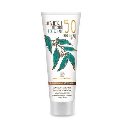 Australian Gold Botanical Tinted Face Sunscreen Lotion - Rich To Deep - SPF 50 -3 fl oz
